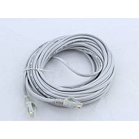 Патчкорд, витая пара для интернета LAN 10м 13525-9 серый