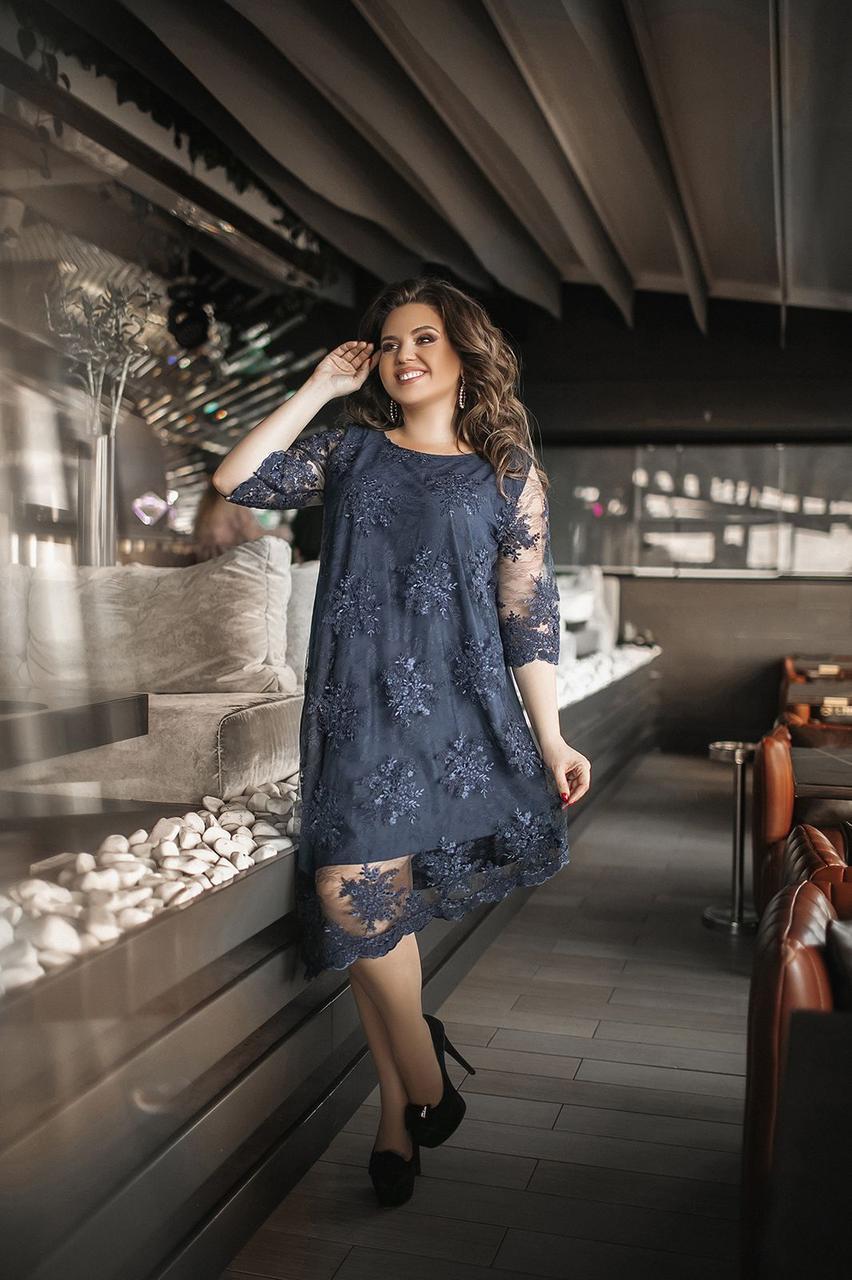 Платье  БАТАЛ нарядное в расцветках 1605099