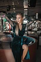 Сукня міді оксамит на запах в кольорах 165092, фото 3