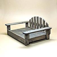 """Лежак деревянный для собаки """"Бламонт 55х70"""" морион"""