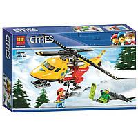 """Конструктор Bela 10868 (Аналог Lego City 60179) """"Вертолёт скорой помощи"""" 208 деталей, фото 1"""