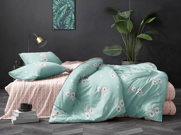Двуспальный комплект постельного белья евро 200*220 хлопок  (12977) TM KRISPOL Украина, фото 2