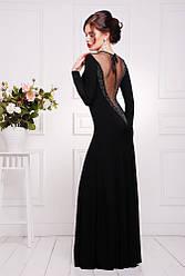 Нарядное длинное платье с глубоким декольте и вырезом на спине, в расцветках, р.42-50