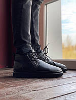 "Мужские зимние ботинки UGG Neumel ""Black"" Leather ( в стиле УГГ )"