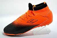 Сороконожки футбольные бутсы Difeno оранжевые