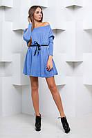 Элегантное платье свободного кроя с поясом