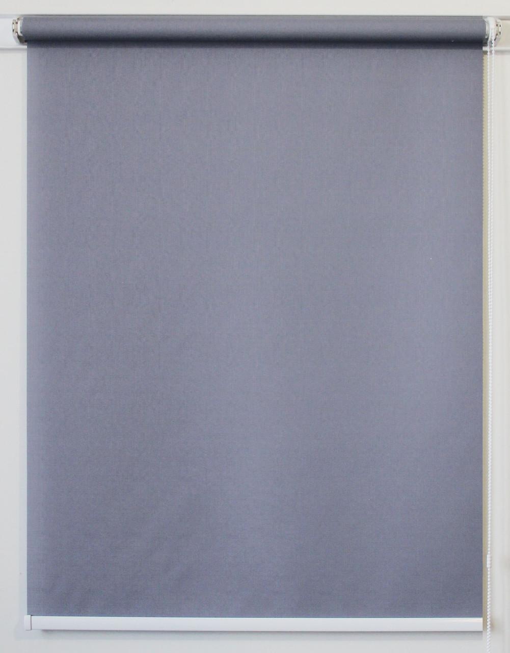 Рулонная штора 650*1500 Ткань Лён 7436 Серый