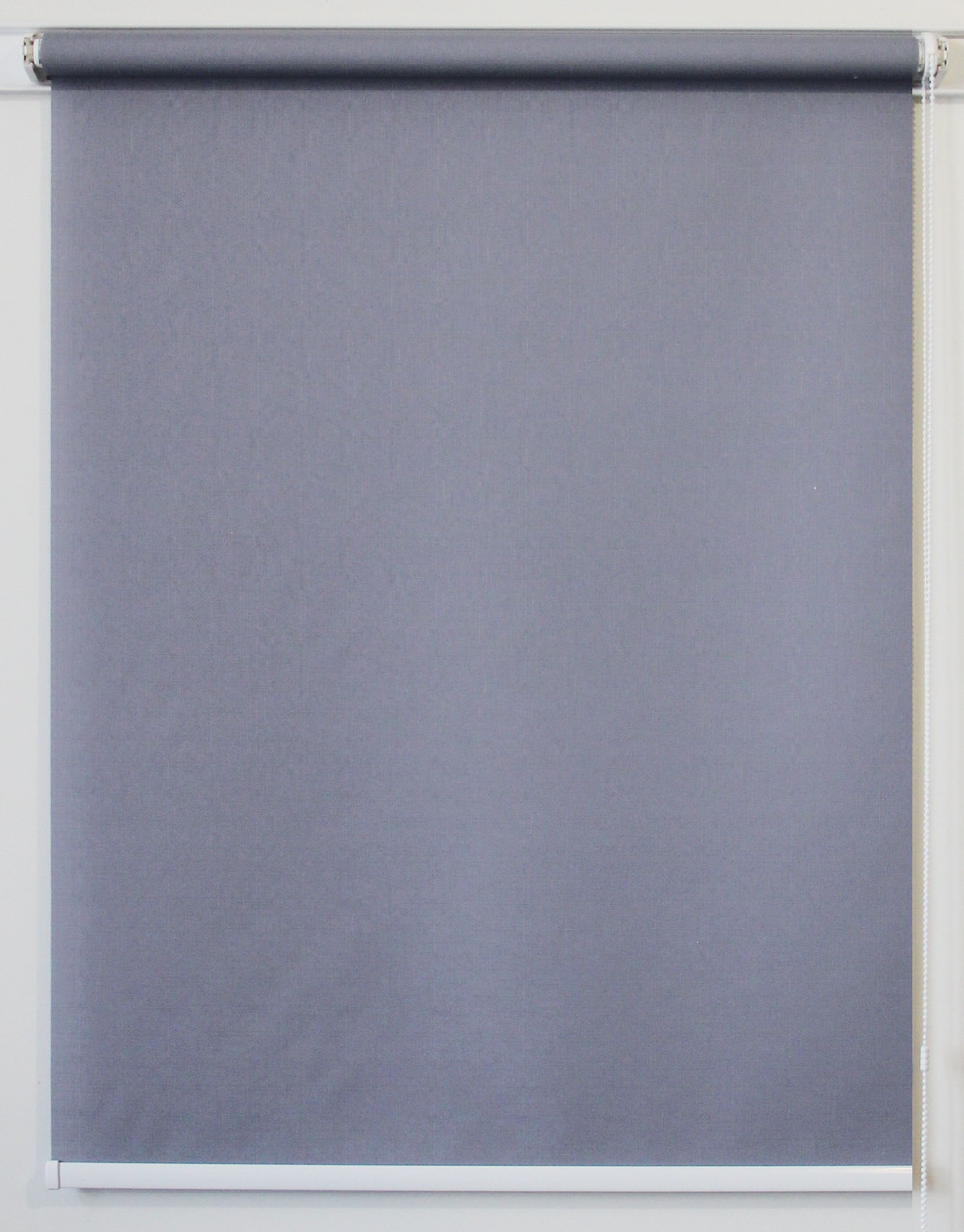 Рулонная штора 975*1500 Ткань Лён 7436 Серый