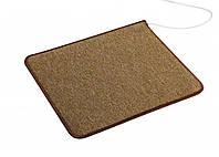 Обогревающий коврик SolraY 53 х 43 см / 44 Вт / Коричневый / Электрический Электроковрик теплый пол для ног