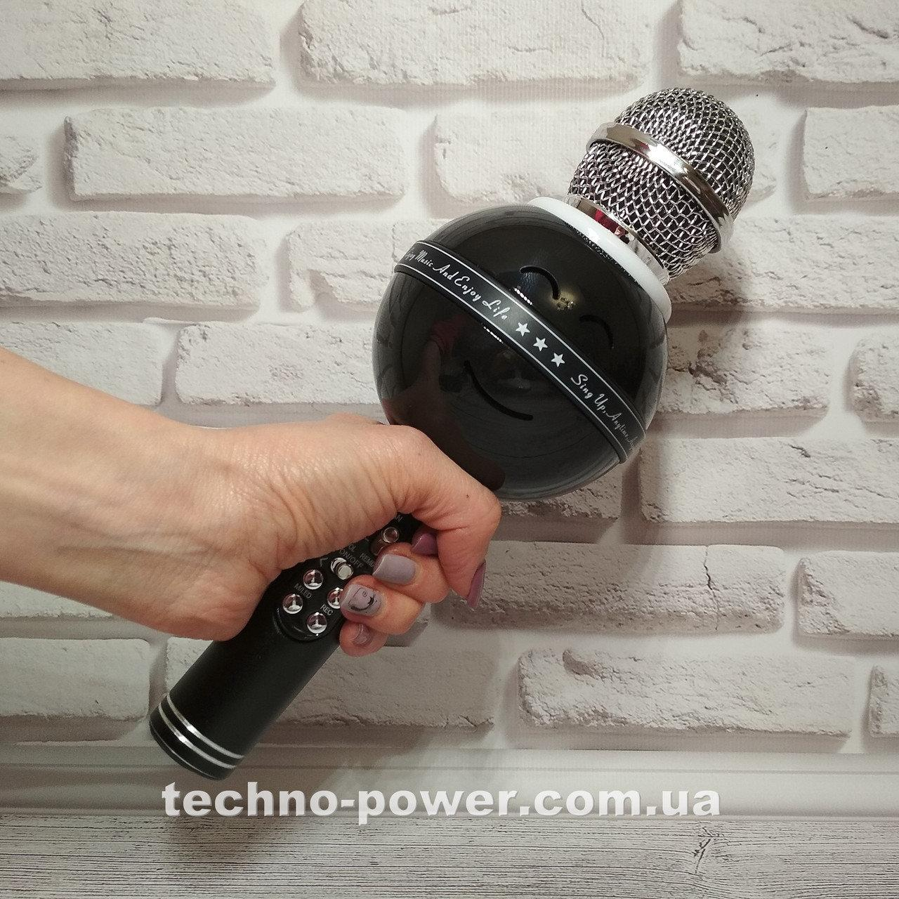 Портативный караоке-микрофон WS-878 с подсветкой