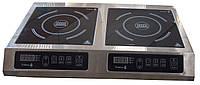 Плита индукционная настольная 2-х конфорочная 2,8 кВт (710х445х110) ТМ Tehma