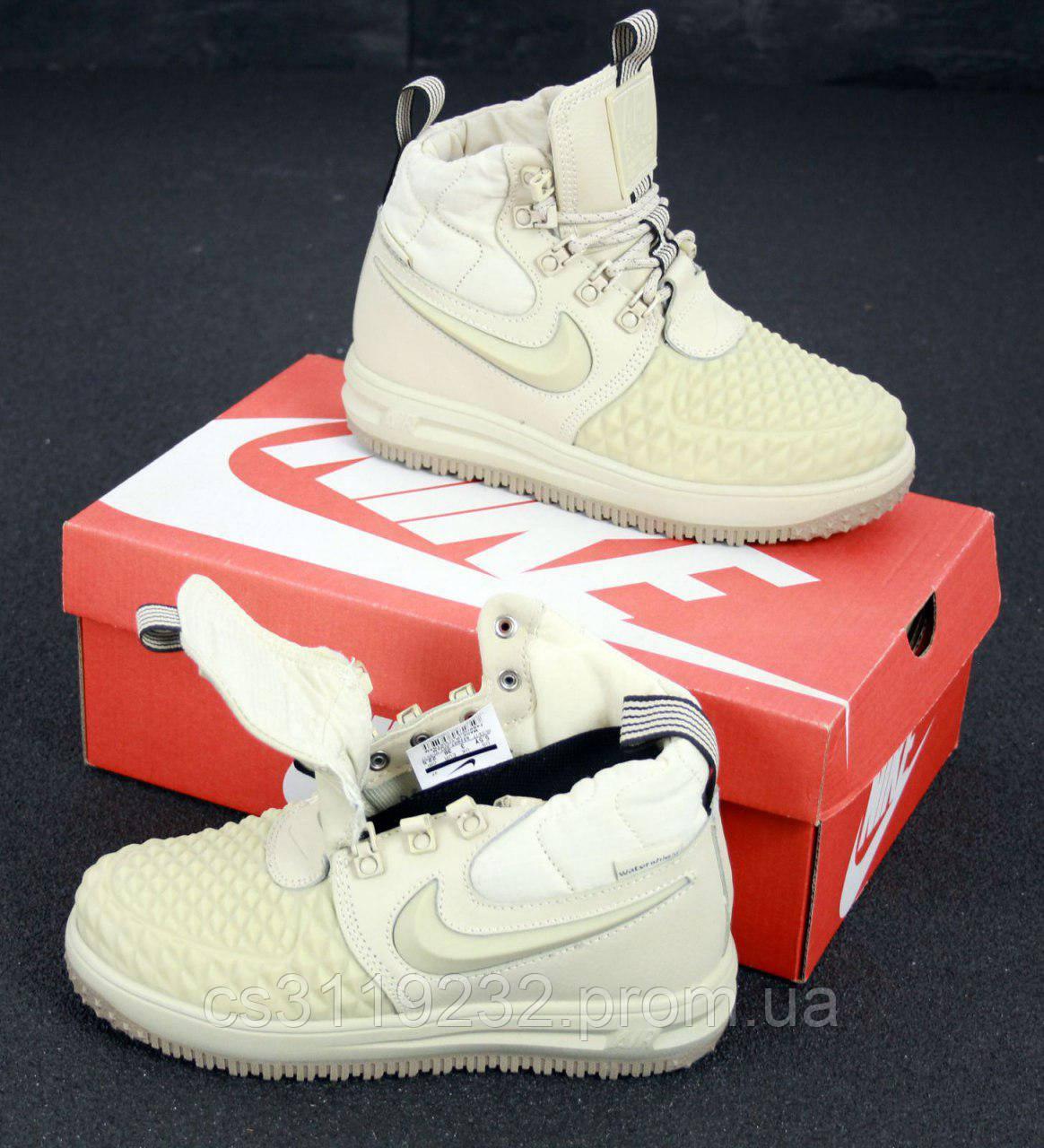 Мужские кроссовки Nike Lunar Force 1 Duckboot 17 (бордовые)