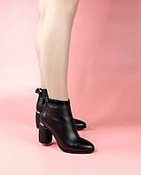 Женские ботинки 1680-878/0 MORENTO (черные, натуральная кожа, байка, весна/осень)