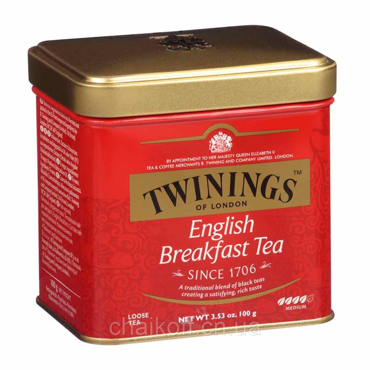 Чай черный Twinings English Breakfast Tea  100г