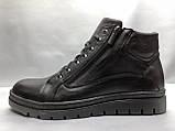 Стильные зимние кожаные ботинки под кеды на молнии Madoks, фото 4