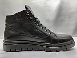 Стильные зимние кожаные ботинки под кеды на молнии Madoks, фото 2