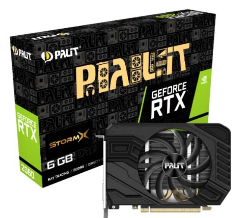 Видеокарта GF RTX 2060 6GB GDDR6 StormX Palit (NE62060018J9-161F)