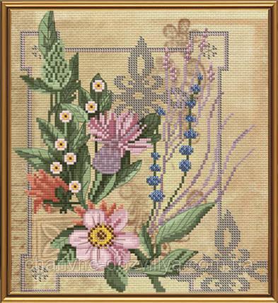 """Набор для вышивания бисером и нитками """"Цветы радости"""", фото 2"""