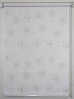 Рулонная штора 800*1500 Одуванчики Белый 5428/1, фото 1