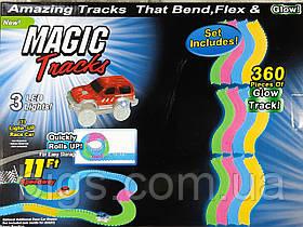 Гибкий светящийся автотрек Magic track 360 деталей