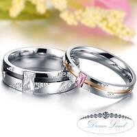 "Парные кольца для влюбленных ""Love You"" (жен. 15.9 16.5 17.3 18.2 19.0 муж. 21.5)"