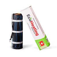 Теплый пол электрический EcoHeating 150 / 4 м² тонкий нагревательный мат для укладки под плитку в клей