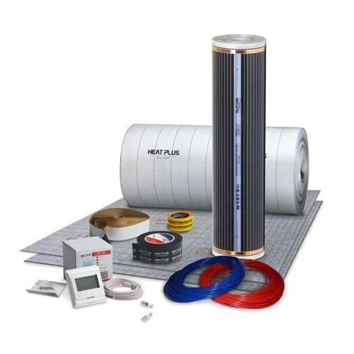 Плівка інфрачервон Heat Plus Standart / 4.8 м2 / плівкова тепла підлога під ламінат і лінолеум / Корея