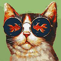 "Картина по номерам ""Мечты кот"" 40*40см"