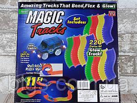 Гибкий светящийся автотрек Magic track 220 деталей