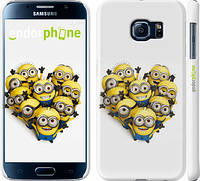 "Чехол на Samsung Galaxy S6 G920 Миньоны 4 ""301c-80"""