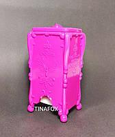 Подставка для салфеток безворсовых и спонжиков, розовая с узором