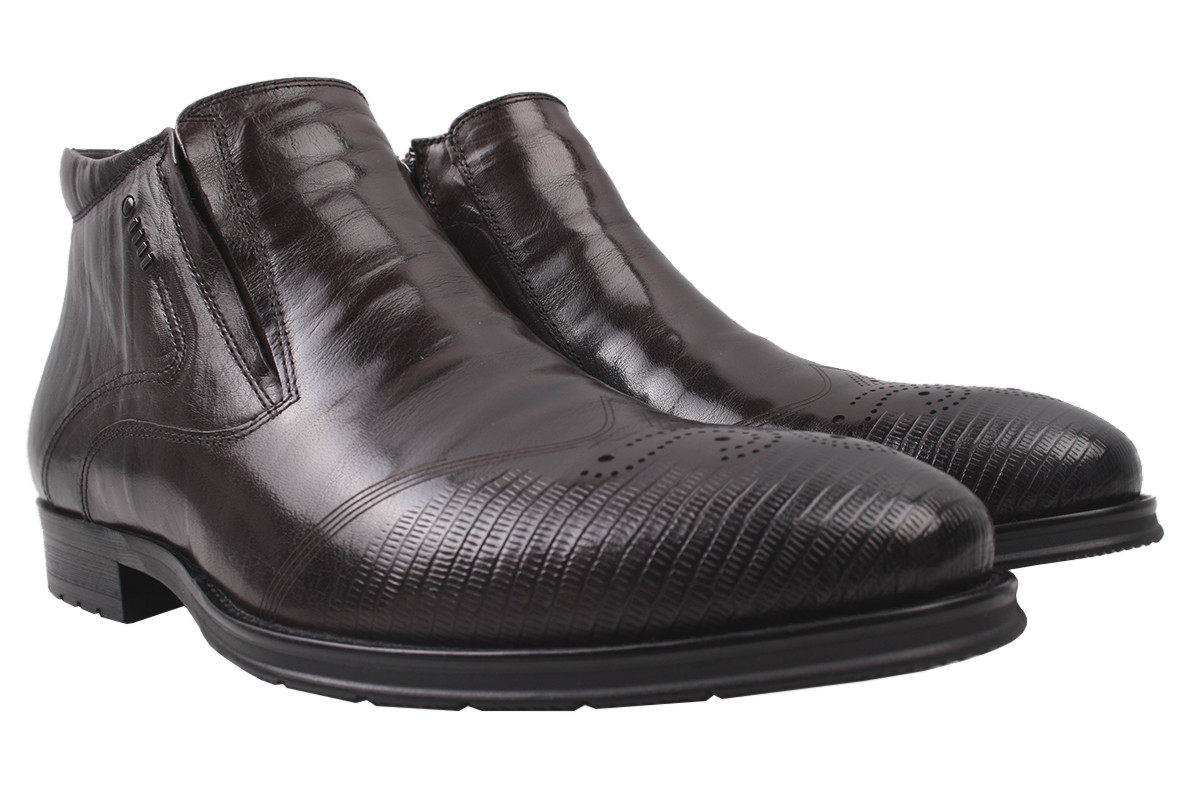 Ботинки мужские Antoni Blanchi зимние натуральная кожа, цвет коричневый, размер 39-44