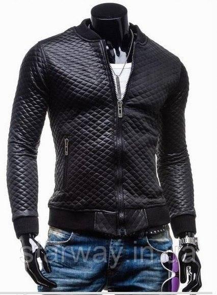 Бомбер чёрный ромбик | Куртка стильная