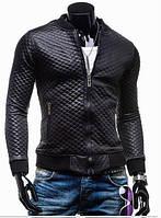 Бомбер чёрный ромбик | Куртка стильная, фото 1