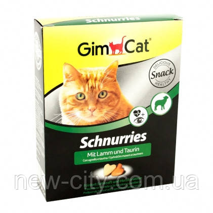 GimCet Schnurries Витаминны в форме сердечек с ягненком и таурином 420гр