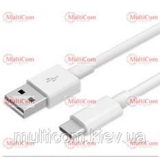 05-10-101. Шнур USB штекер А - штекер USB штекер type C, білий, 80см