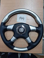 Руль Спортивный Спорт 144 Серый с черным, 4 спицы, Турция Лада ,Таврия ,Ваз,Ланос,Самара,опель