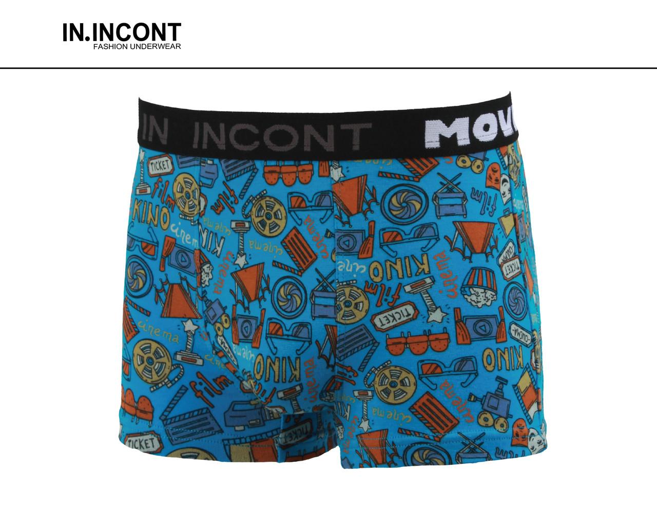Трусы подростковые стрейчевые шорты  на мальчика Марка «IN.INCONT»  Арт.9601