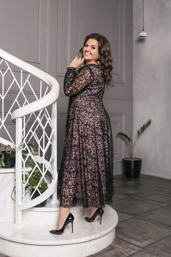 Купить вечернее длинное платье 52 размера в