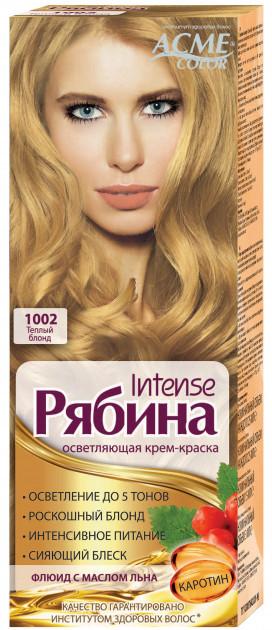 "Крем-краска Acme Рябина Intense ""№1002 Теплый блонд"""