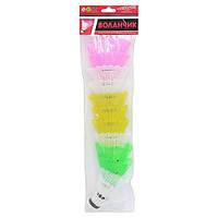Воланчик/волан цветной для игра в бадминтон: 12шт в комплекте