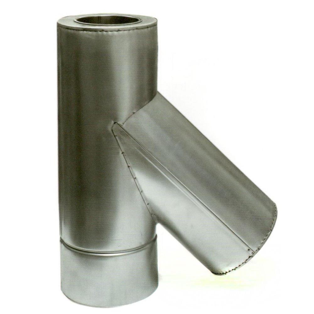 Дымоходный тройник с термоизоляцией к/оц 45° 0,8мм