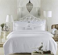 Комплект постельного  белья - Сатин Премиум Класса Белый с французскими ушками Полуторный 1,5м., 50×70