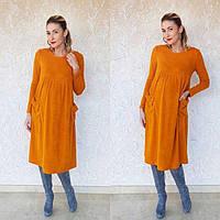 Теплое платье из ангоры для беременных и кормящих мам 8004 Genika