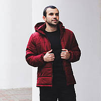 Куртка мужская теплая зимняя красная