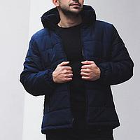 Куртка мужская теплая зимняя синяя