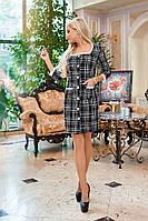 ЖІноче батальне тепле плаття з кружевом  ,2 кольори. Р-ри  50-56, фото 1