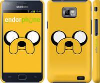 "Чехол на Samsung Galaxy S2 i9100 Adventure Time. Jake ""1121c-14"""