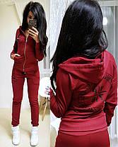 Костюм женский, кофта с капюшоном на змейке и штаны, размеры от 42 до 52 Турция, фото 2