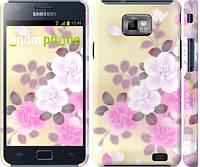 """Чехол на Samsung Galaxy S2 i9100 Японские цветы """"2240c-14"""""""